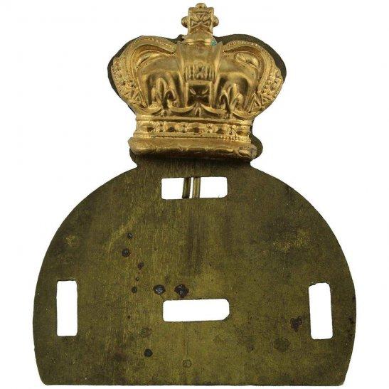 VICTORIAN Generic Queen Victoria Crown Glengarry Backing Plate Cap Badge Centre