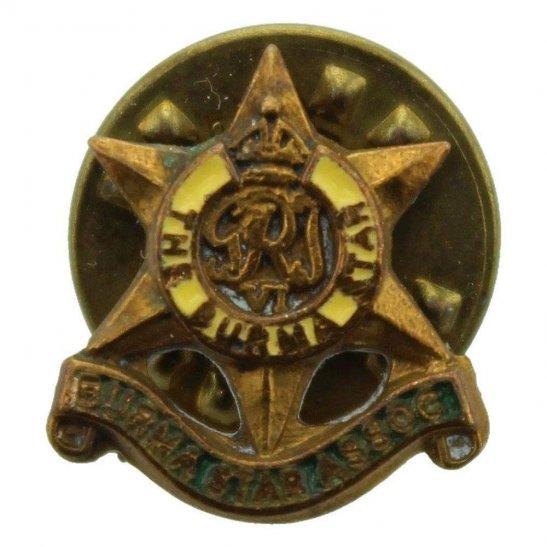 WW2 The Burma Star Association Members SMALL Stud-Pin Lapel Badge