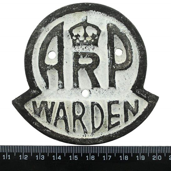 additional image for WW2 Air Raid Precautions Warden ARP Post Metal Door Plaque Sign