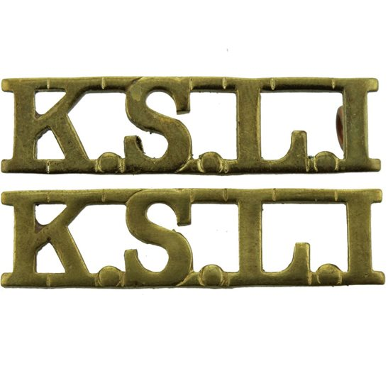 Kings Shropshire Light Infantry KSLI Kings Shropshire Light Infantry KSLI Regiment King's Shoulder Title PAIR