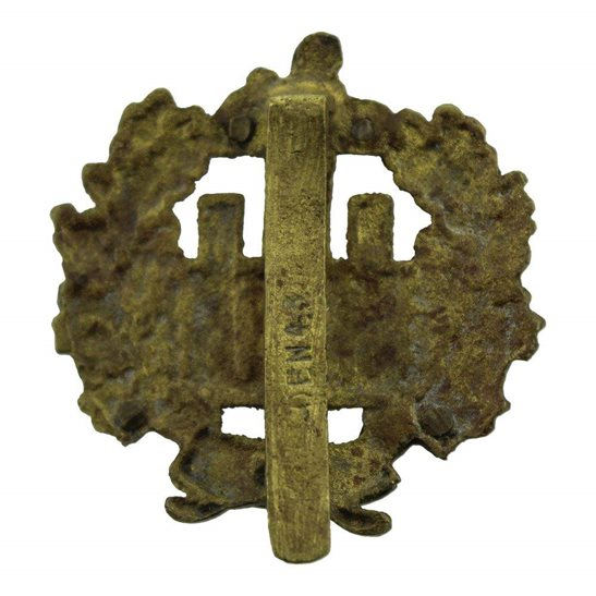 additional image for WW2 Essex Regiment Cap Badge EDEN-43 (1943) Indian Makers Mark