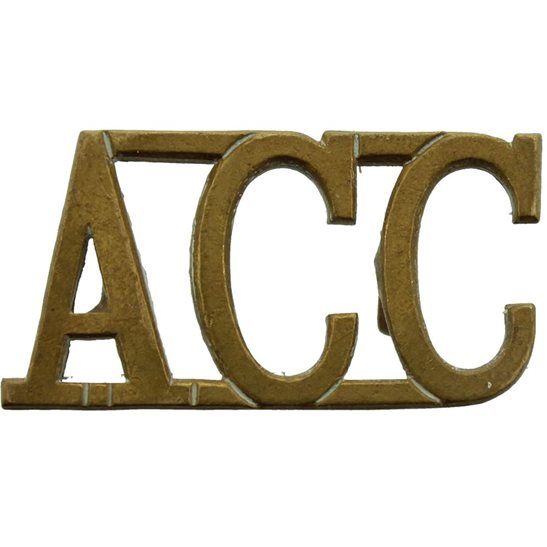 Army Catering Corps ACC WW2 Army Catering Corps ACC Shoulder Title