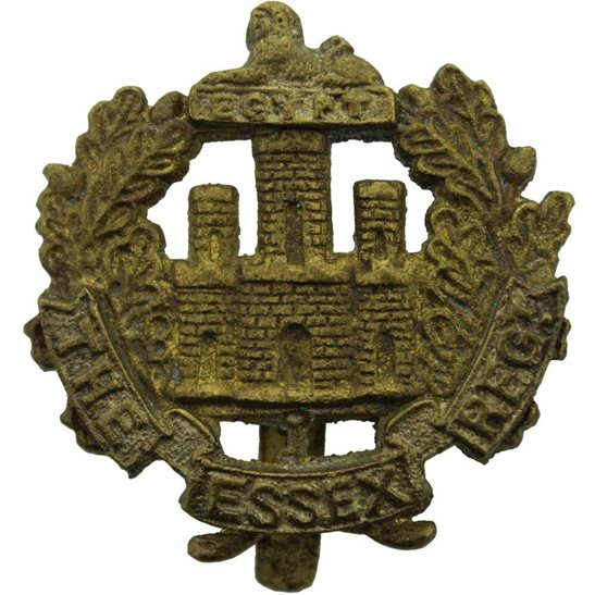 Essex Regiment WW2 Essex Regiment Cap Badge EDEN-43 (1943) Indian Makers Mark