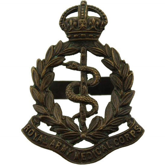 Royal Army Medical Corps RAMC Royal Army Medical Corps RAMC OFFICERS Bronze Cap Badge