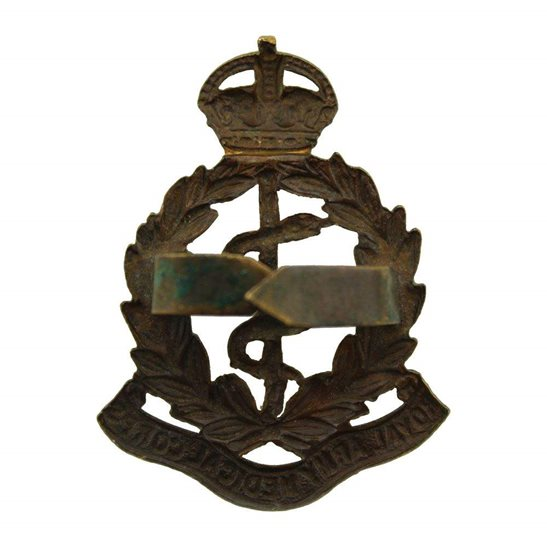 additional image for Royal Army Medical Corps RAMC OFFICERS Bronze Cap Badge