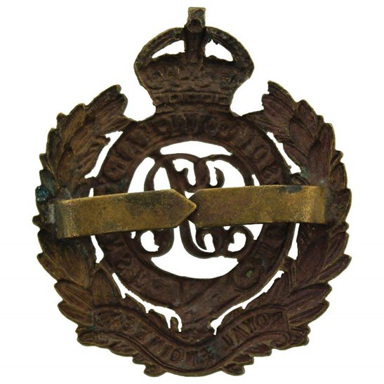 additional image for WW1 Royal Engineers Corps (George V) OFFICERS Bronze Cap Badge
