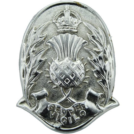 Scottish Police Force Constables Officers Cap Badge - Kings Crown