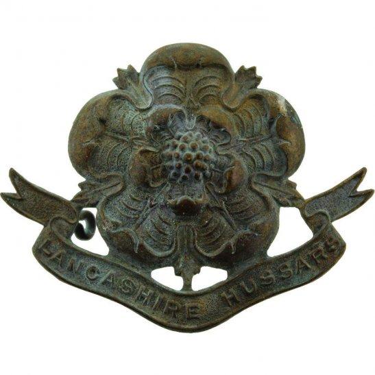 Lancashire Hussars UK Dug Detecting Find - WW1 Lancashire Hussars Regiment Relic Cap Badge