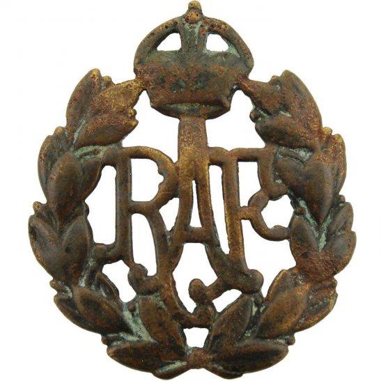Royal Air Force RAF UK Dug Detecting Find - Royal Air Force RAF Relic Cap Badge