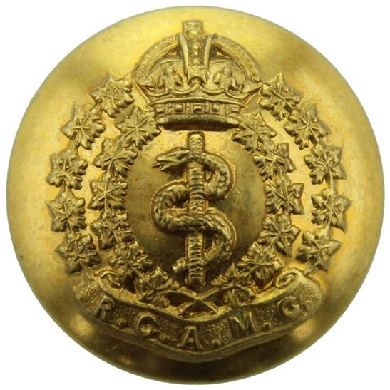 WW2 Canadian Army WW2 Royal Canadian Army Medical Corps RCAMC Canada CEF Tunic Button - 26mm