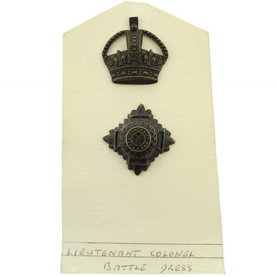 WW1 British Army Officers Insignia Pips - Rank of Lieutenant Colonel