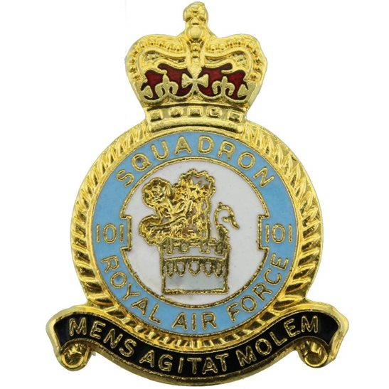 RAF Squadrons 101 Squadron Royal Air Force RAF Lapel Badge