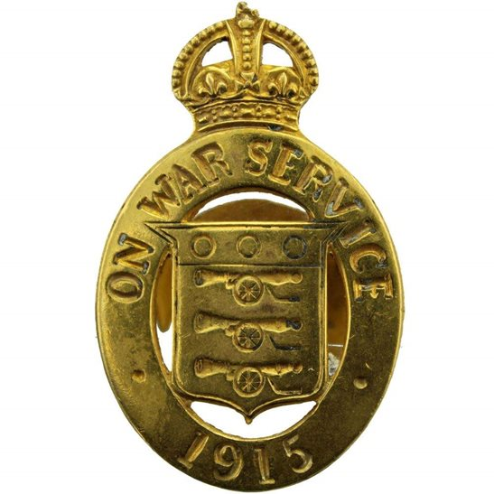 WW1 On War Service 1915 Lapel Badge - MAPPIN & WEBB LTD SHEFFIELD & LONDON