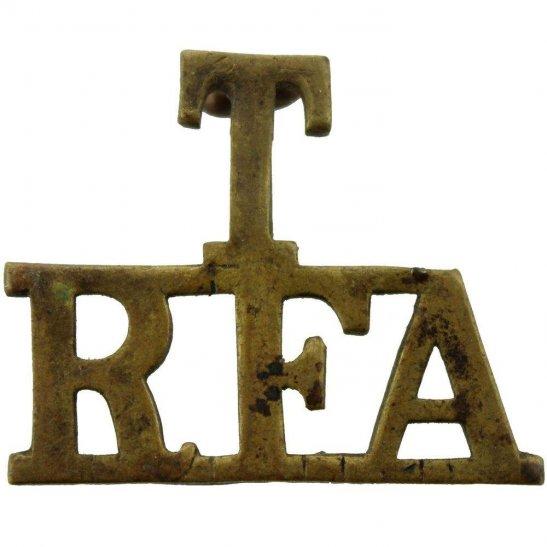 Royal Field Artillery RFA WW1 Territorial Royal Field Artillery T RFA Shoulder Title