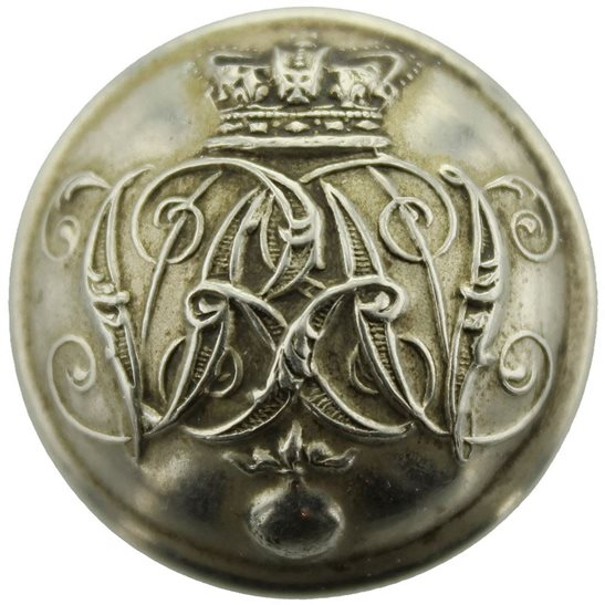 Grenadier Guards VICTORIAN Grenadier Guards Regiment Tunic Button QVC - 25mm