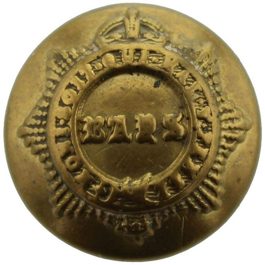 West Yorkshire 2nd Dragoon Guards (Queens Bays) Regiment SMALL Tunic Button - 19mm