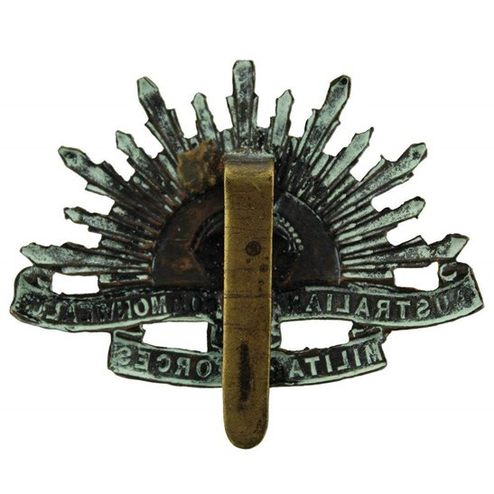 additional image for WW1 Australian Army Division Commonwealth Military Forces Cap Badge - SLIDER VERSION