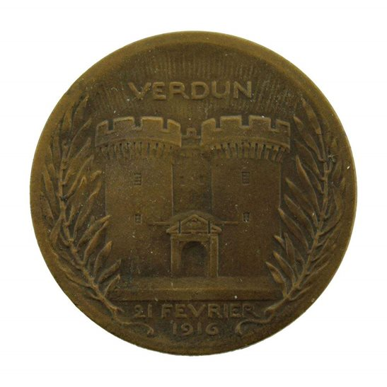 additional image for WW1 French Bronze Battle of Verdun 1916 War Medal - On Ne Passe Pas