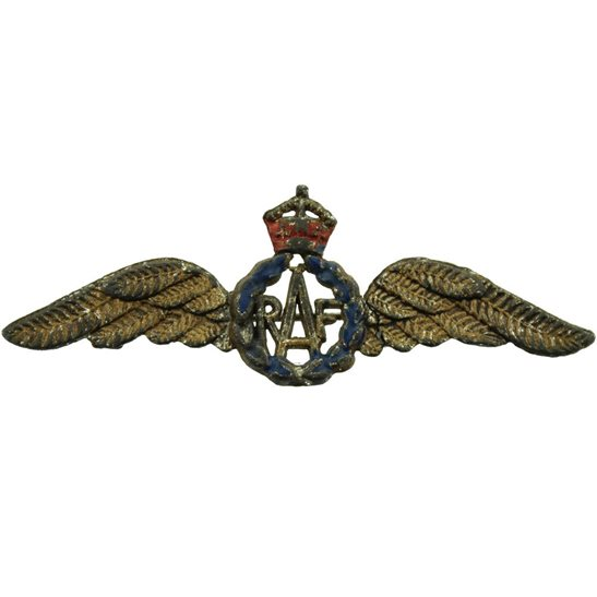 Royal Air Force RAF WW2 Royal Air Force RAF Wings Sweetheart Brooch - 56mm