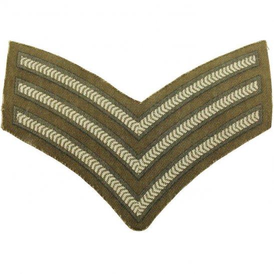 WW2 British Army Sergeants PRINTED Cloth Chevron Insignia Rank Stripes