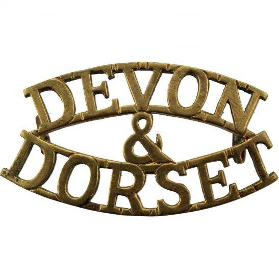 Devon and Dorset Devonshire and Dorset Regiment Shoulder Title