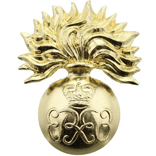 Grenadier Guards Grenadier Guards Regiment Staybrite Anodised WARRANT OFFICER Cap Badge - Staybright