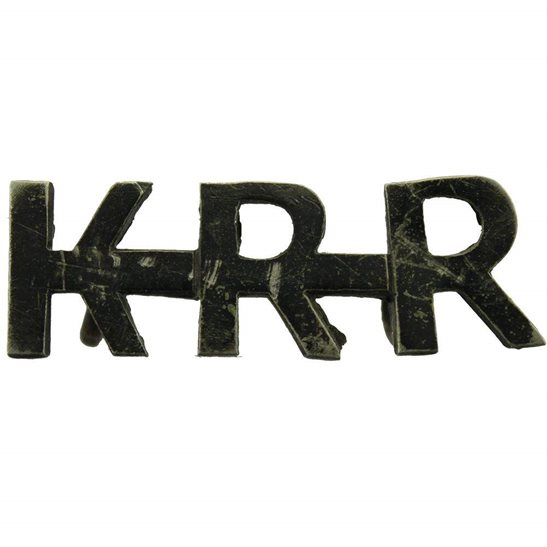 Kings Royal Rifle Corps KRRC Kings Royal Rifle Corps KRR (King's) Regiment Shoulder Title