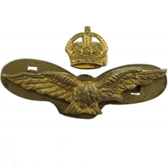 Royal Air Force RAF WW2 Royal Air Force RAF Side / Forage 2-Piece Cap Badge