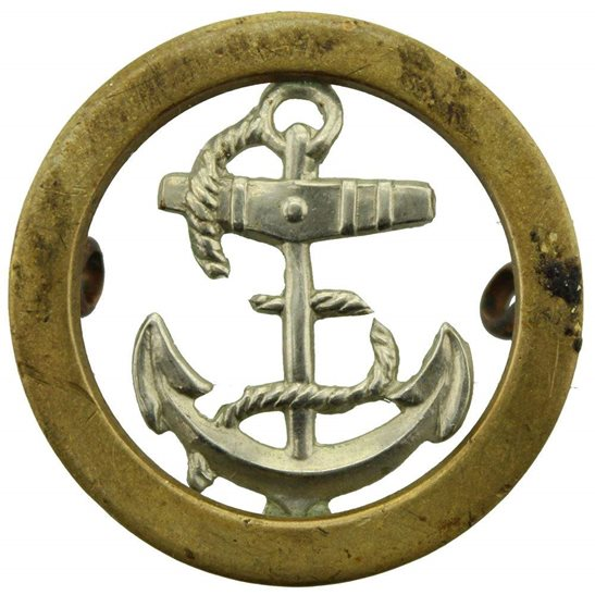 Royal Navy British Sailors Royal Navy Seamans Naval Anchor Cap Badge