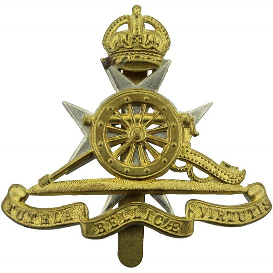 Royal Artillery Royal Malta Artillery RMA Maltese Colonial Regiment Cap Badge