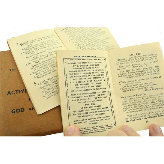 additional image for WW2 The Methodist Church On Active Service Soldiers Bible and Hymn Book