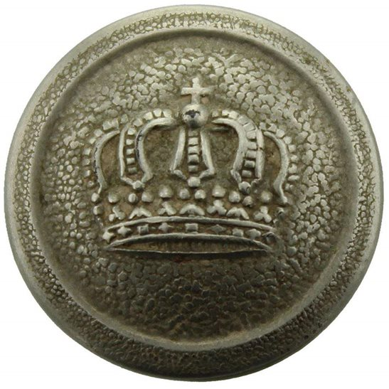 WW1 German Army WW1 Imperial German Soldiers Prussian Crown Tunic Button - 21mm