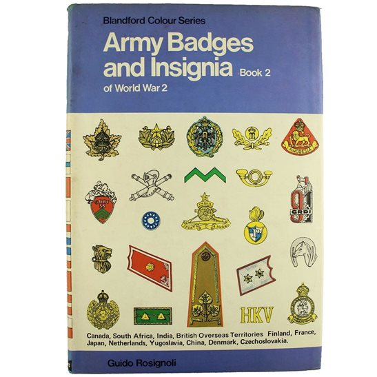 WW2 Allied Armies Army Cap Badges, Insignia, Rank Patches etc. Guide Book