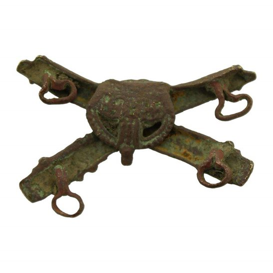 additional image for UK Dug Detecting Find - WW1 Machine Gun Corps MGC Relic Collar Badge