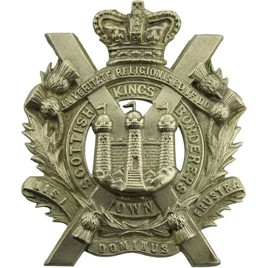 Kings Own Scottish Borderers Victorian Kings Own Scottish Borderers Regiment KOSB (King's) Cap Badge - QVC