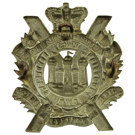 additional image for Victorian Kings Own Scottish Borderers Regiment KOSB (King's) Cap Badge - QVC