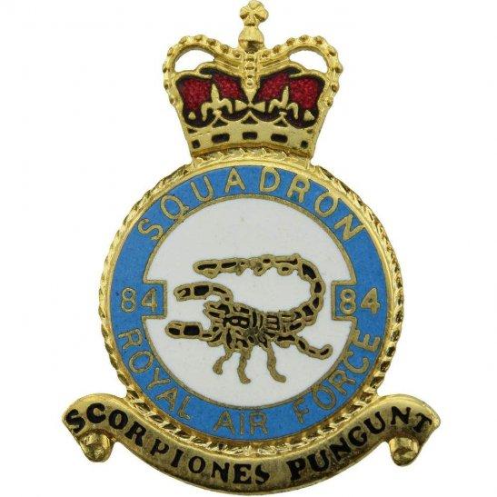 RAF Squadrons 84 Squadron Royal Air Force PLAQUE Badge RAF