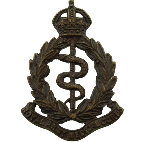 Royal Army Medical Corps RAMC Royal Army Medical Corps RAMC OFFICERS Bronze Collar Badge