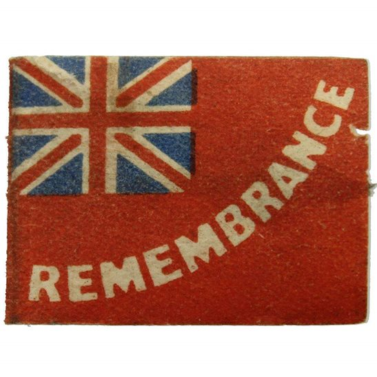 additional image for WW1 Discharged Soldiers & Sailors Remembrance Flag Day Fundraising Pin Badge