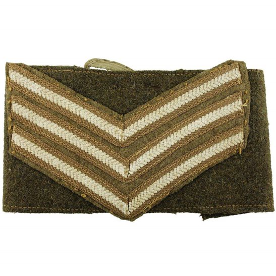 British Army Sergeants Cloth Chevron Insignia Armband Rank Stripes