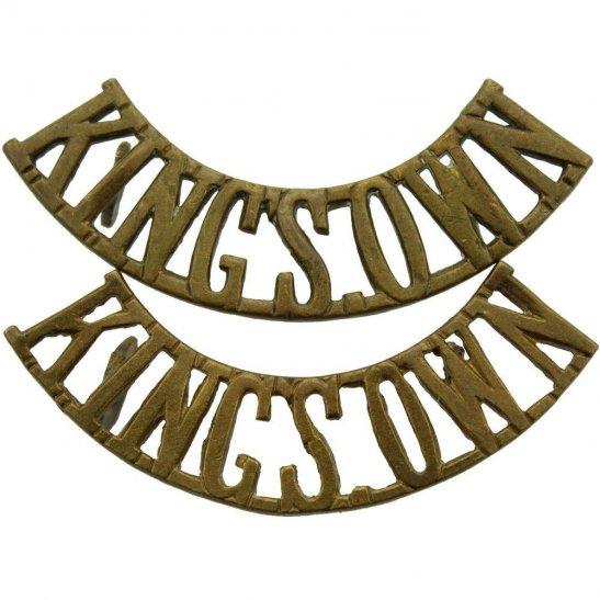 Kings Own Royal Lancaster Kings Own Royal Lancaster Regiment (King's) Shoulder Title PAIR