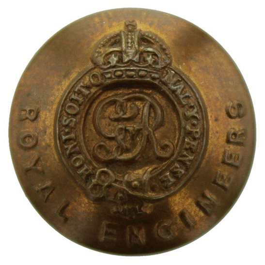 Royal Engineers WW1 Royal Engineers Corps (George V) SMALL Tunic Button - 16mm