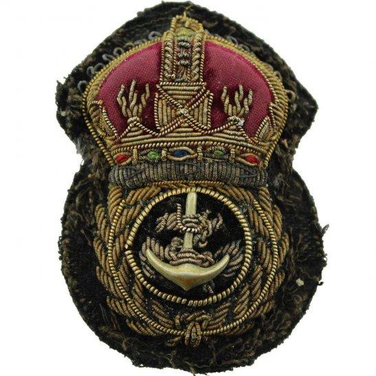Royal Navy WW1 British Royal Navy Petty Officers Cloth Bullion Cap Badge