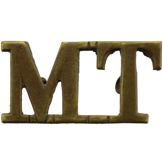 Motor Transport Motor Transport Corps Company MT Shoulder Title