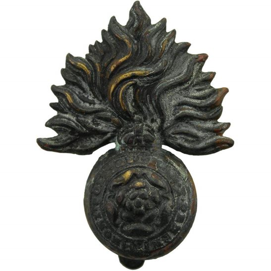 Royal London Fusiliers UK Dug Detecting Find - WW1 Royal London Fusiliers Regiment Relic Cap Badge