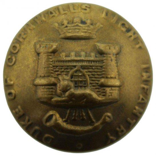 Duke of Cornwalls Light Infantry Duke of Cornwalls Light Infantry Regiment DCLI Tunic Button - 26mm