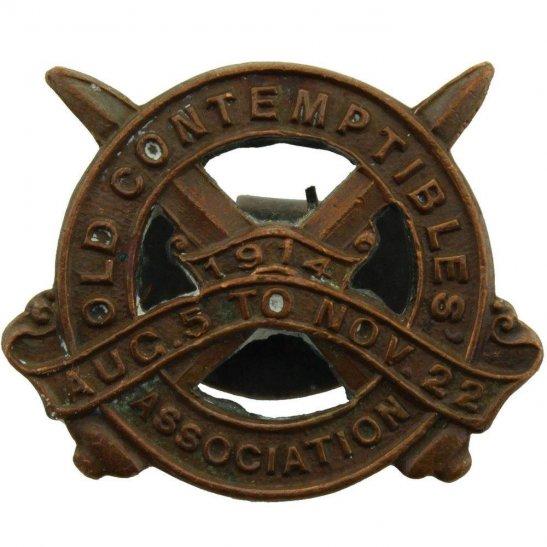 WW1 1914 Old Contemptibles Association Veterans Lapel Badge - 511E