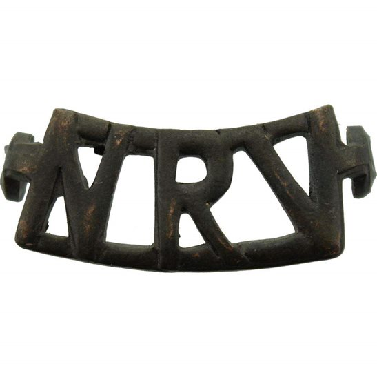 South African Army WW2 South African Army National Reserve Volunteers Africa NRV Shoulder Title
