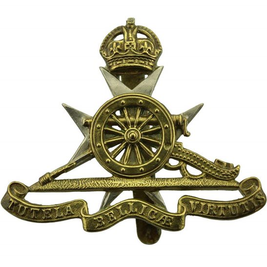 Royal Artillery Royal Malta Artillery RMA Maltese Colonial Regiment Cap Badge