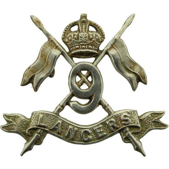 9th Queens Royal Lancers 9th Queens Royal Lancers Regiment Cap Badge - EARLY LUGS VERSION